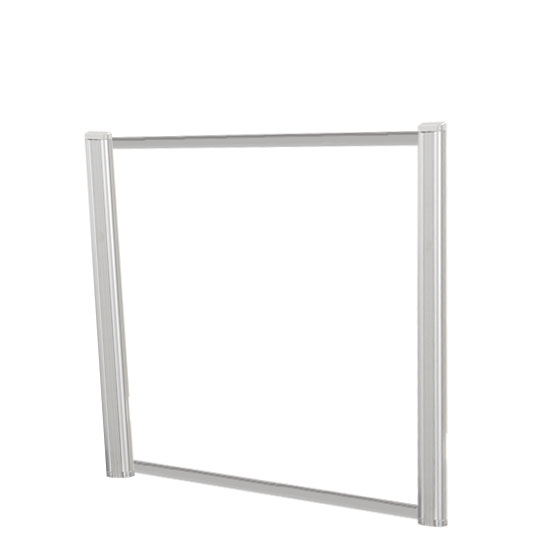Borders Extended Screen with Clear Glass and No Transaction Space – 42″W – (2 – 24″H Posts Included)