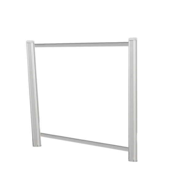 Borders Extended Screen with Clear Glass and Transaction Space – 42″W – (2 – 24″H Posts Included)