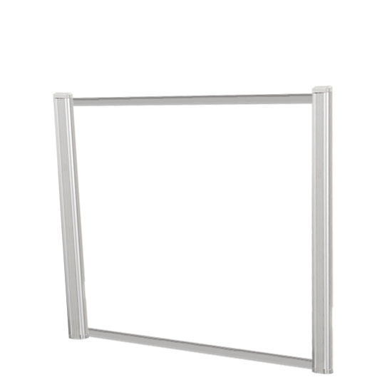 Borders Extended Screen with Clear Glass and No Transaction Space – 48″W – (2 – 24″H Posts Included)