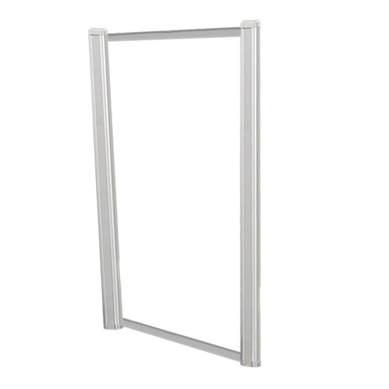 Borders Extended Screen with Clear Glass and No Transaction Space – 24″W – (2 – 36″H Posts Included)