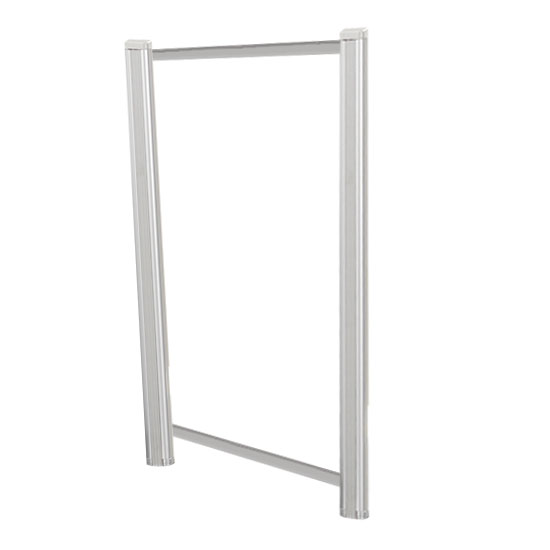 Borders Extended Screen with Clear Glass and Transaction Space – 24″W – (2 – 36″H Posts Included)