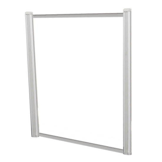 Borders Extended Screen with Clear Glass and No Transaction Space – 42″W – (2 – 36″H Posts Included)