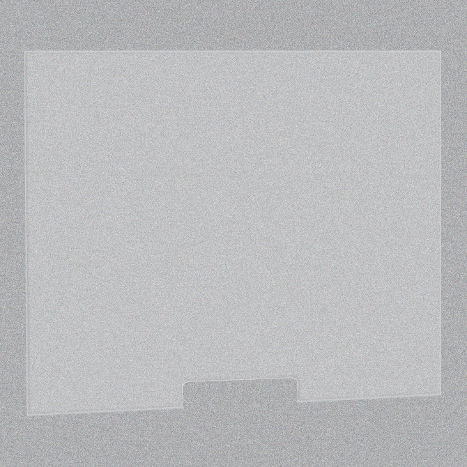 Frosted Acrylic Screen with Transaction Cutout – 30″W x 24″H