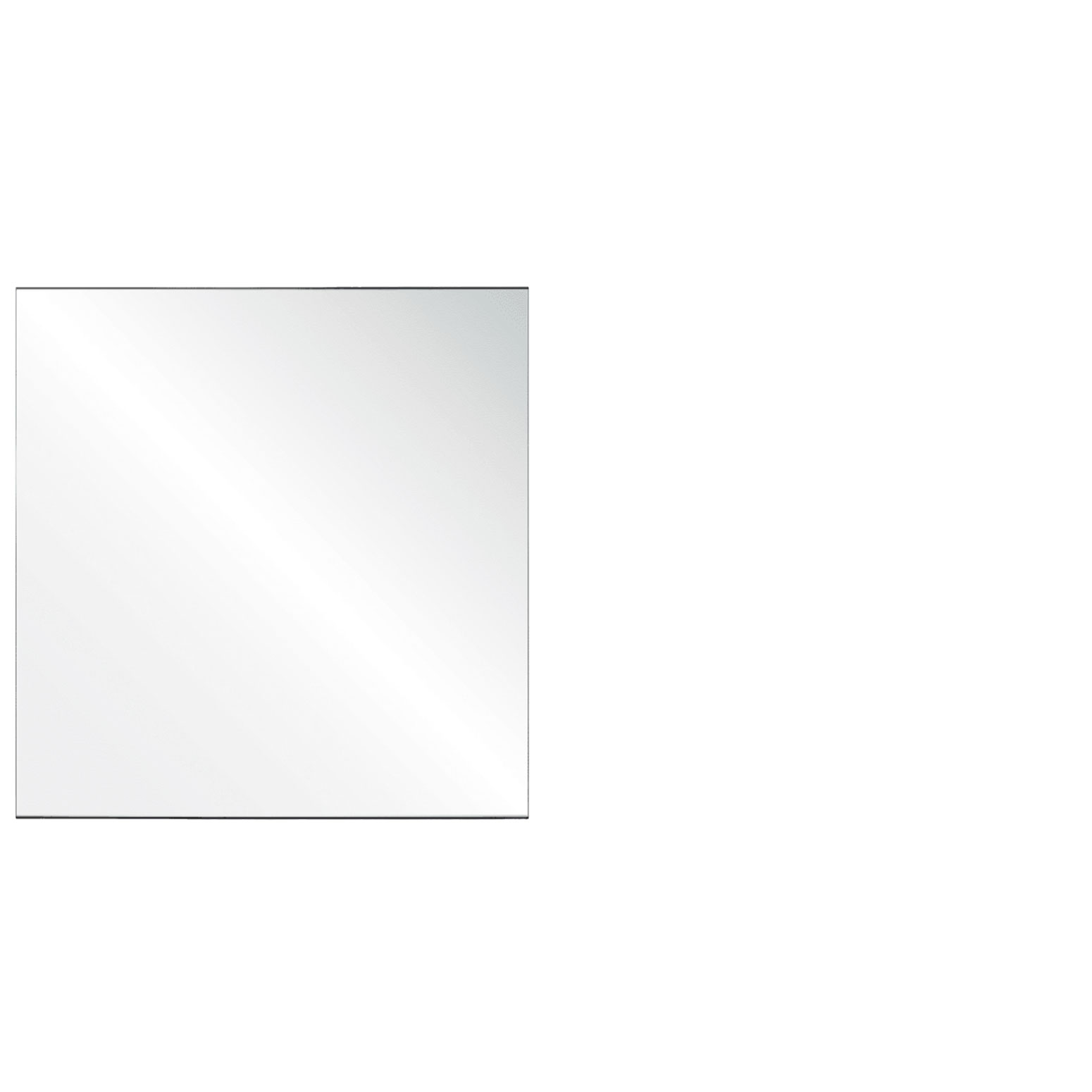 Clear Acrylic Screen with Square Edges – 36″W x 24″H