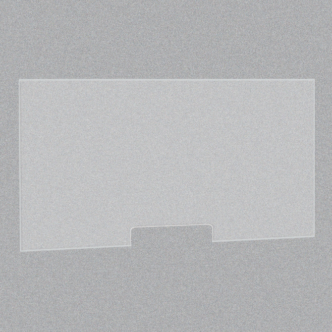 Frosted Acrylic Screen with Transaction Cutout – 48″W x 24″H