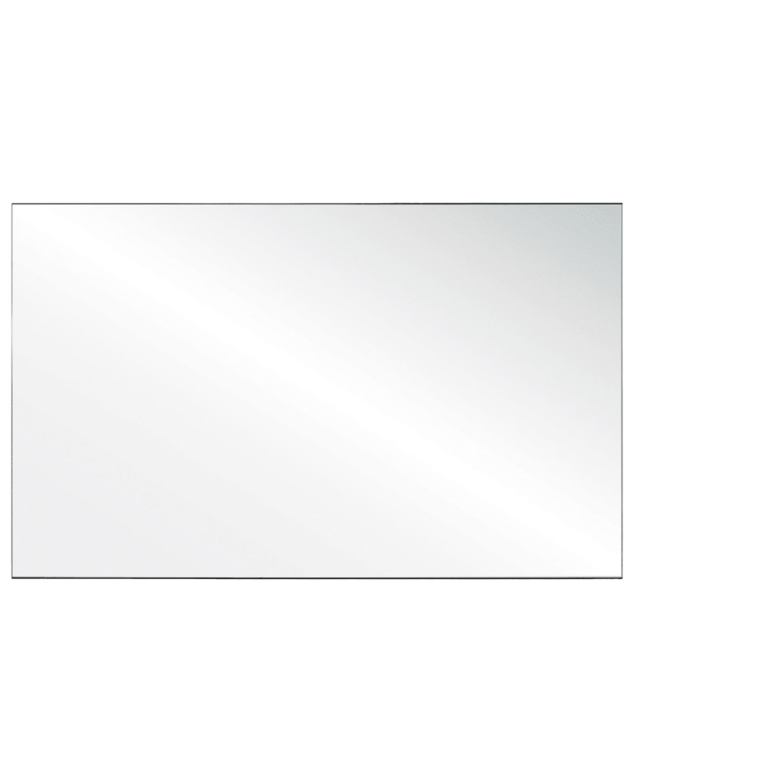 Clear Acrylic Screen with Square Edges – 60″W x 24″H