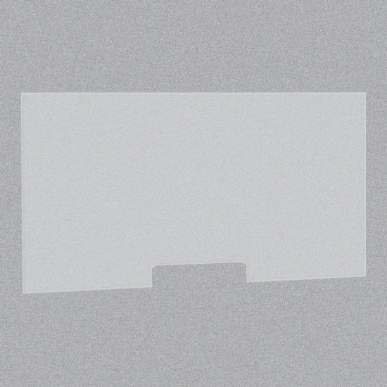 Frosted Acrylic Screen with Transaction Cutout – 60″W x 24″H
