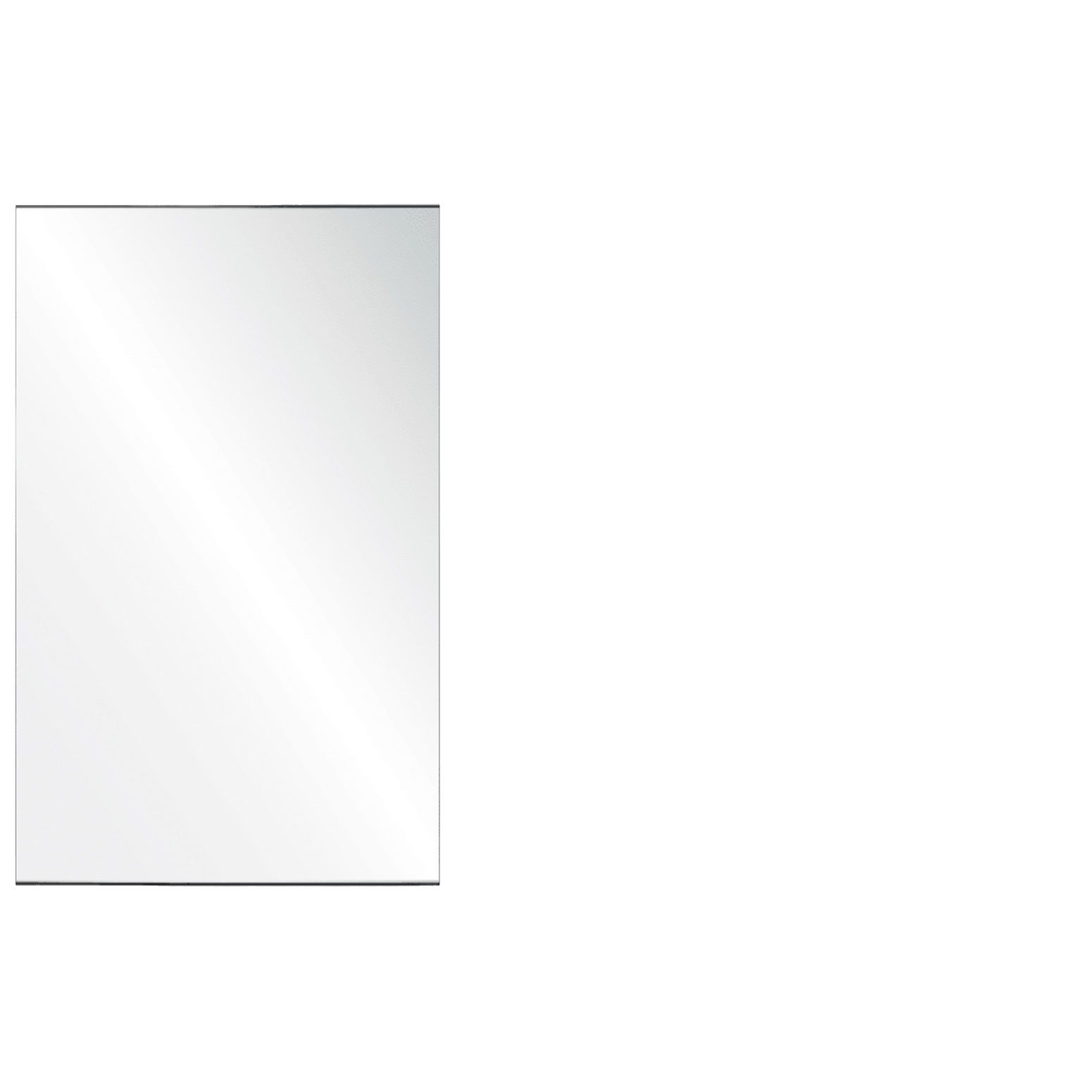 Clear Acrylic Screen with Square Edges – 30″W x 30″H