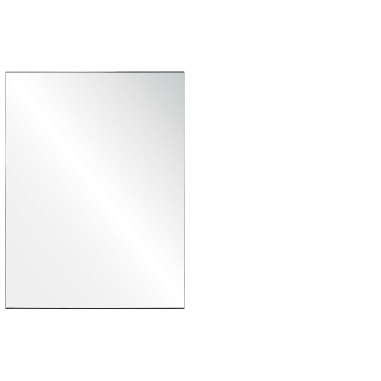 Clear Acrylic Screen with Square Edges – 36″W x 30″H