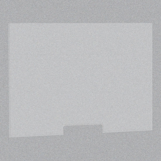 Frosted Acrylic Screen with Transaction Cutout – 48″W x 30″H