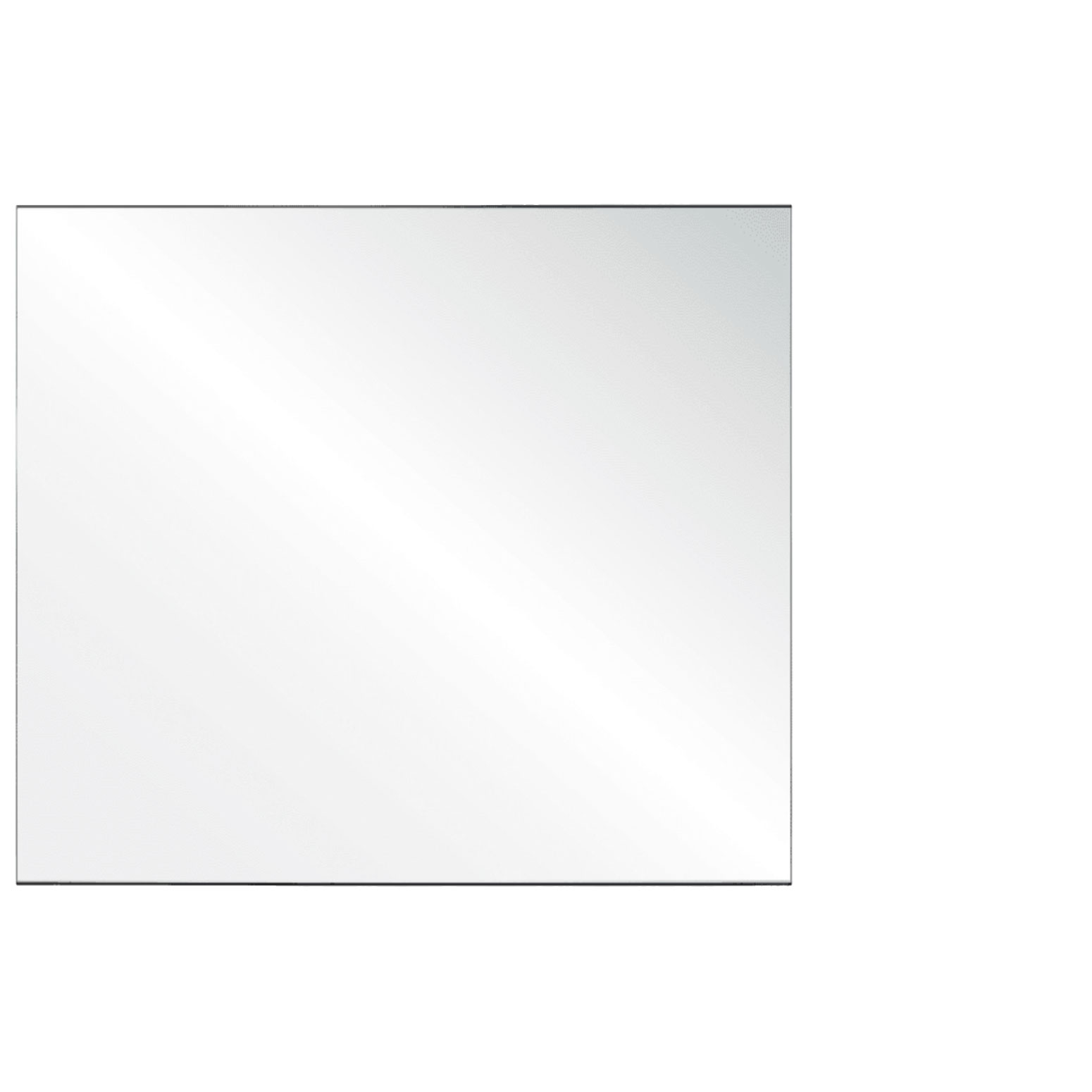 Clear Acrylic Screen with Square Edges – 54″W x 30″H