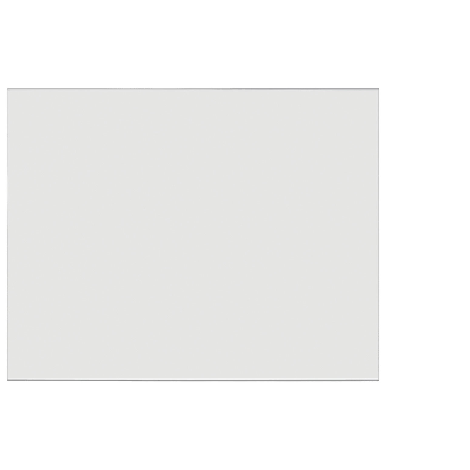 Frosted Acrylic Screen with Square Edges – 60″W x 30″H