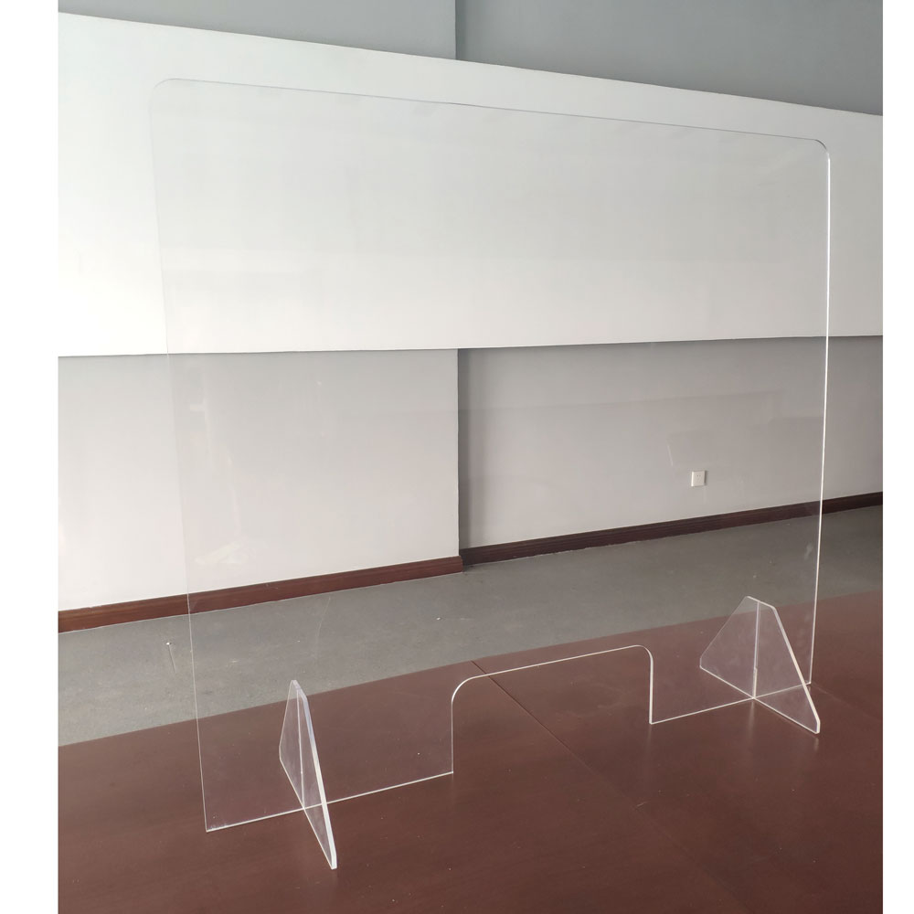 All Acrylic Desk Top Screen with Transaction Space