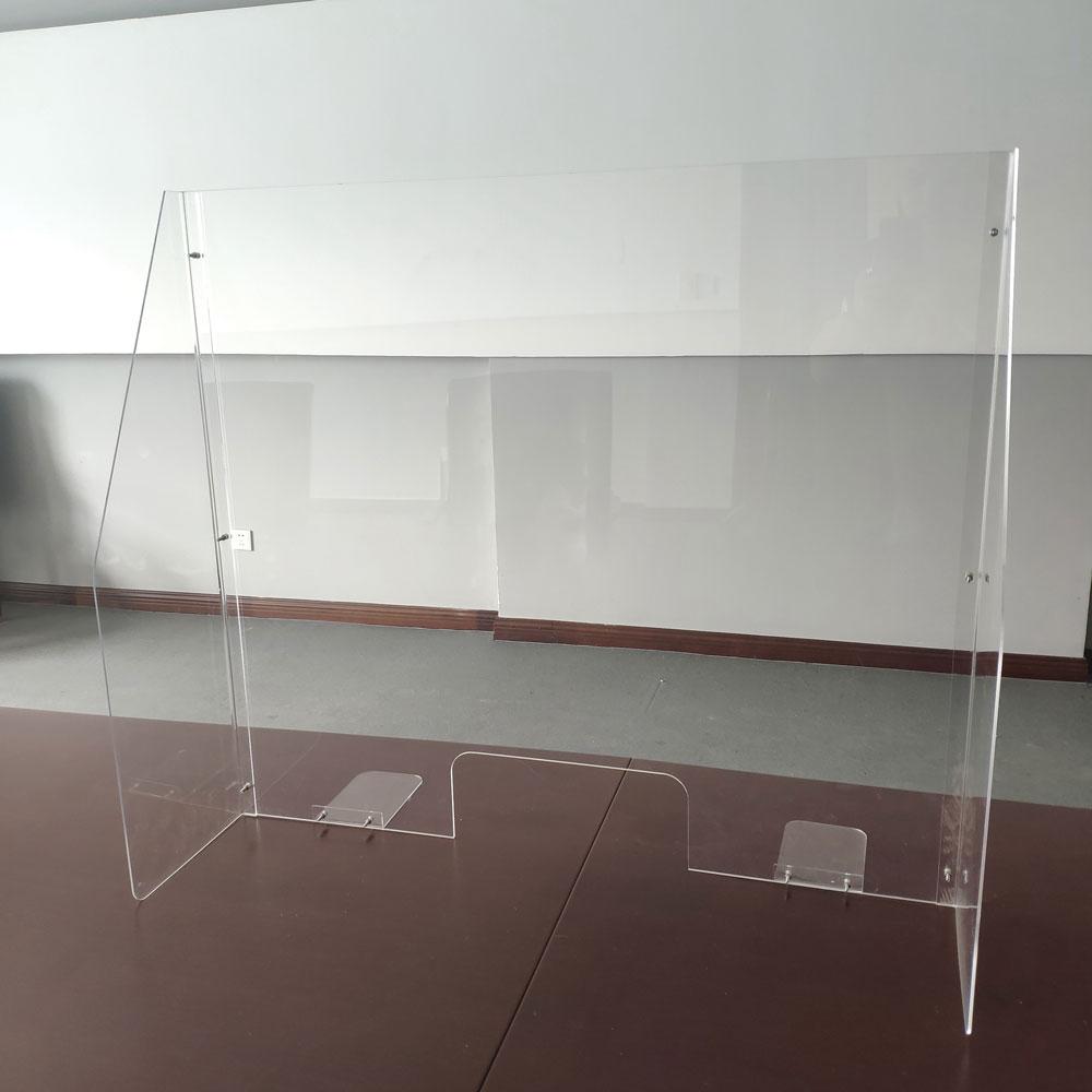 All Acrylic Desk Top Screen with Transaction Space and Side Panels