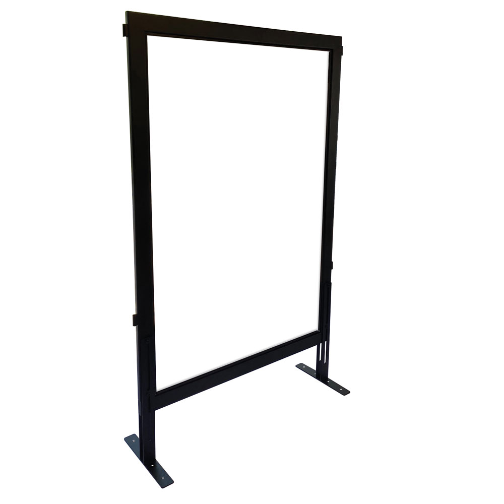 Clear Acrylic Desk Top Screen with Black Frame