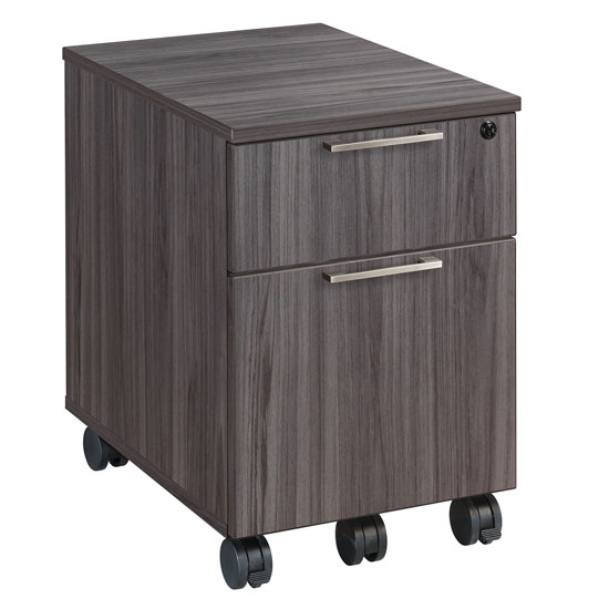 OfficeSource Sienna Collection Optional Mobile Pedestal with Box and File Storage