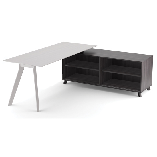 "OfficeSource Sienna Collection 63"" Open Side Return"
