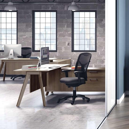 OfficeSource Sienna Collection L Shape Typical – Sienna 2
