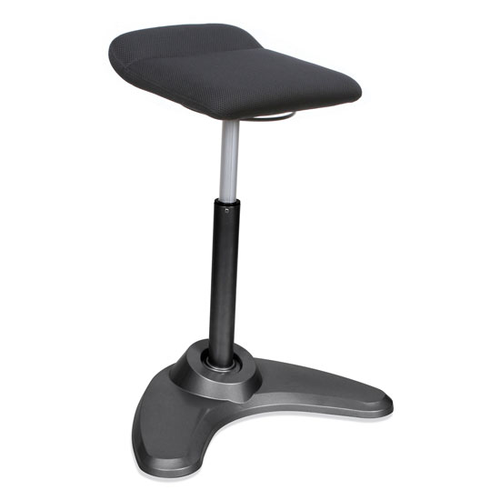 Adjustable Height Stool with Black Base