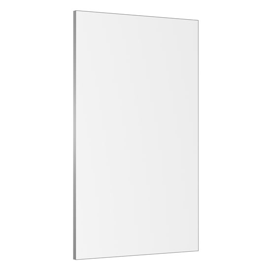 Mobile, Magnetic, Glass White Board with Silver Trim