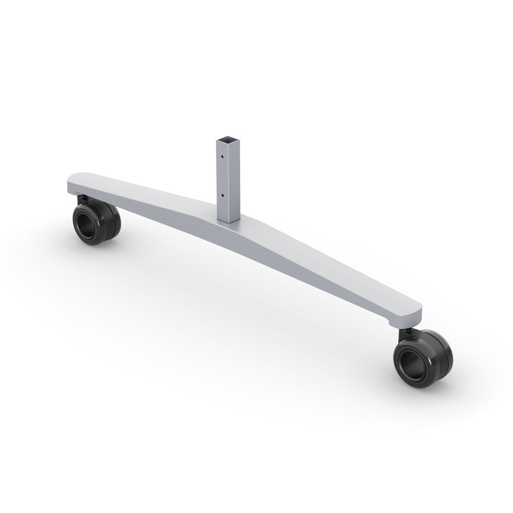 OfficeSource Spry Mobile Marker Board Series Single Foot with Casters for MGWB3665