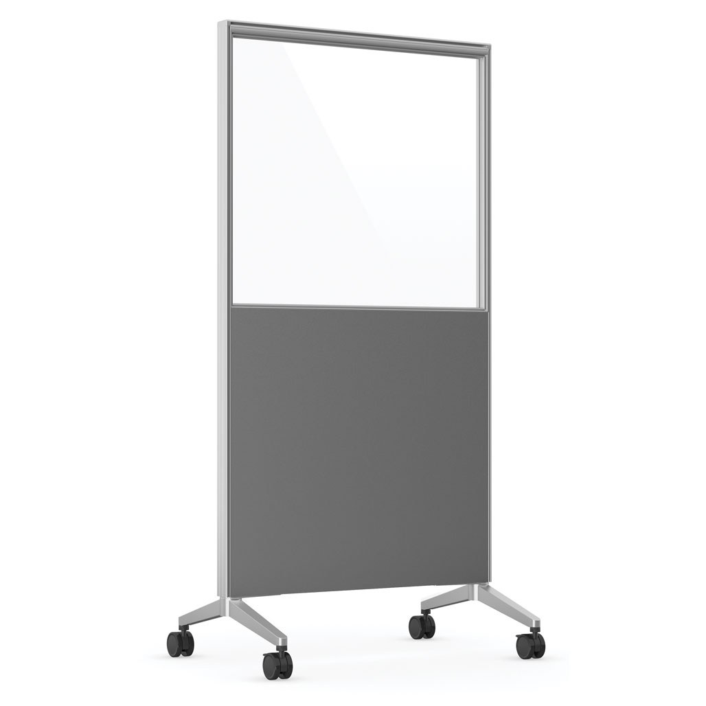 OfficeSource Spry Mobile Acrylic Board Collection 36″ X 72″ Combo Panel – Charcoal Laminate with Clear Acrylic
