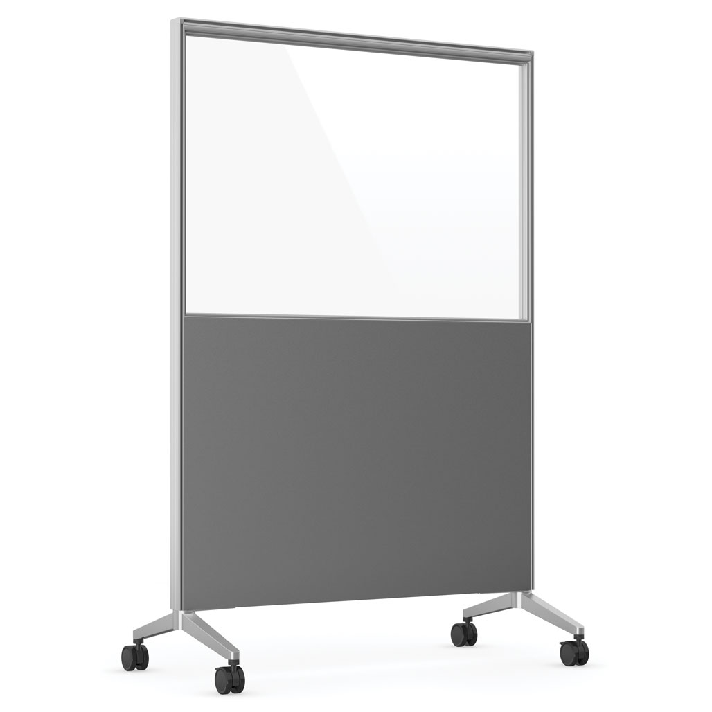 OfficeSource Spry Mobile Acrylic Board Collection 48″ X 72″ Combo Panel – Charcoal Laminate with Clear Acrylic
