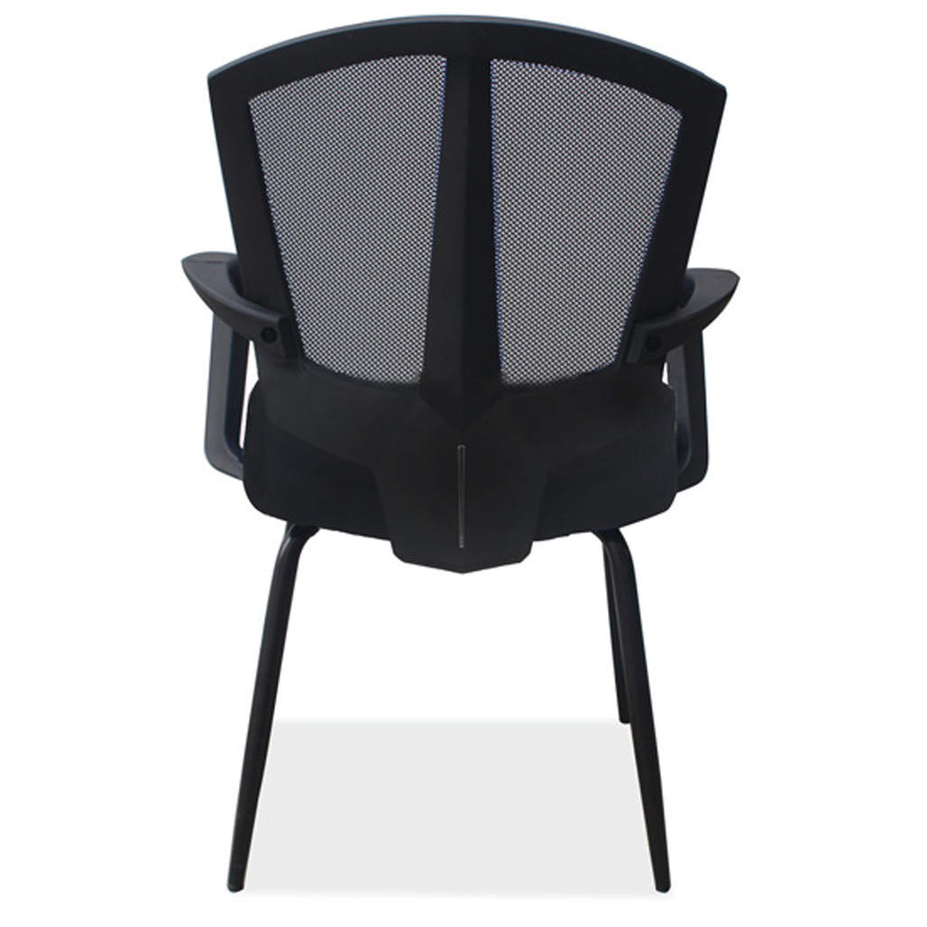 Side Chair with Arms and Black Frame | OfficeSource Furniture