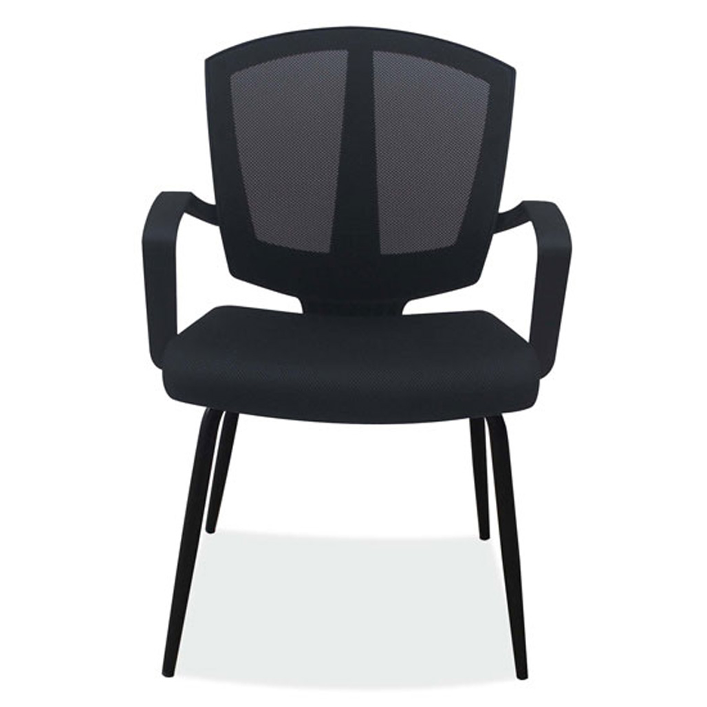 OfficeSource Sprint Collection Side Chair with Arms and Black Frame