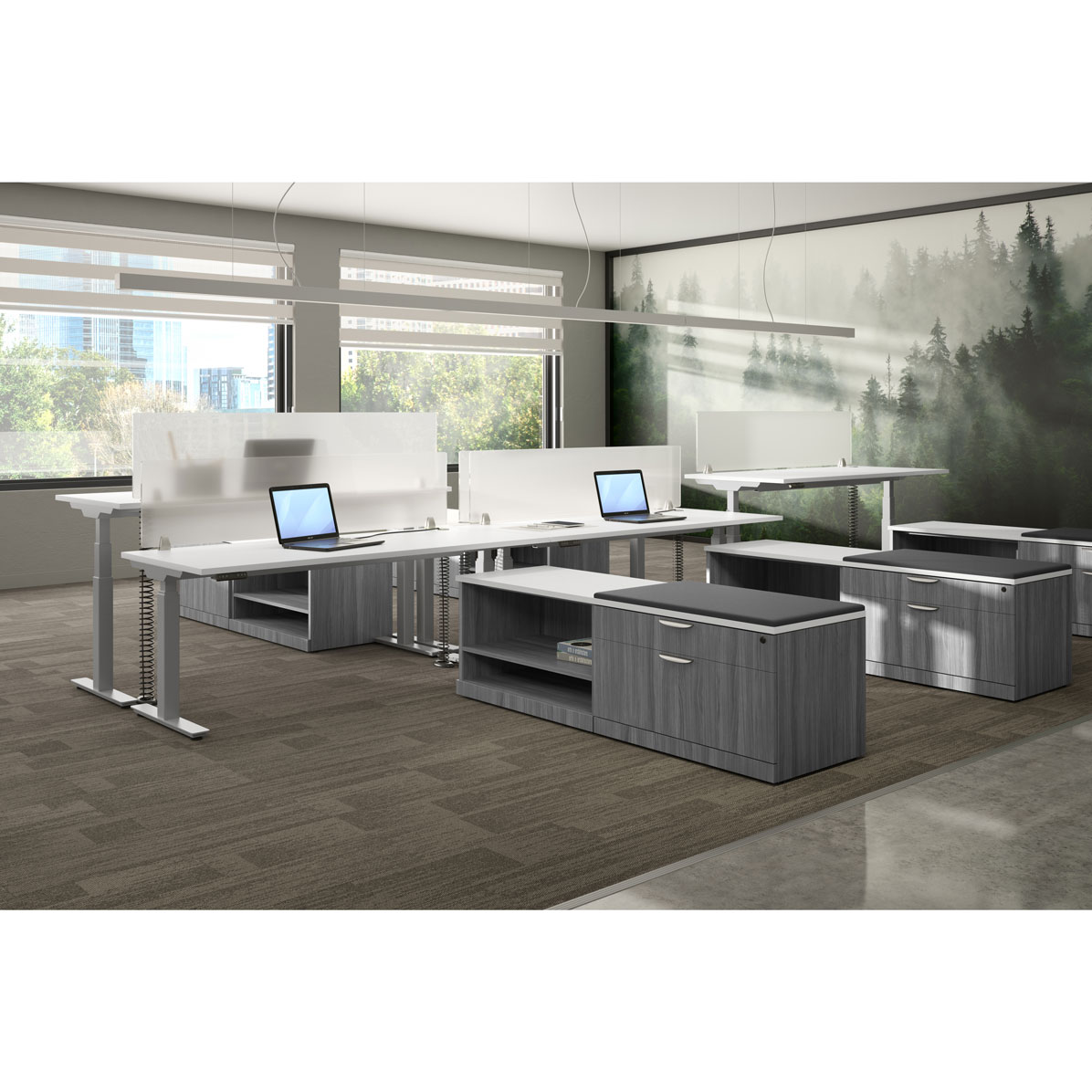 OfficeSource StandUp Standing Desk Collection Typical OS166
