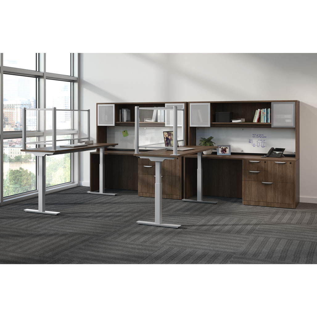 OfficeSource Standup Standing Desk Collection Height Adjustable Typical – OS228