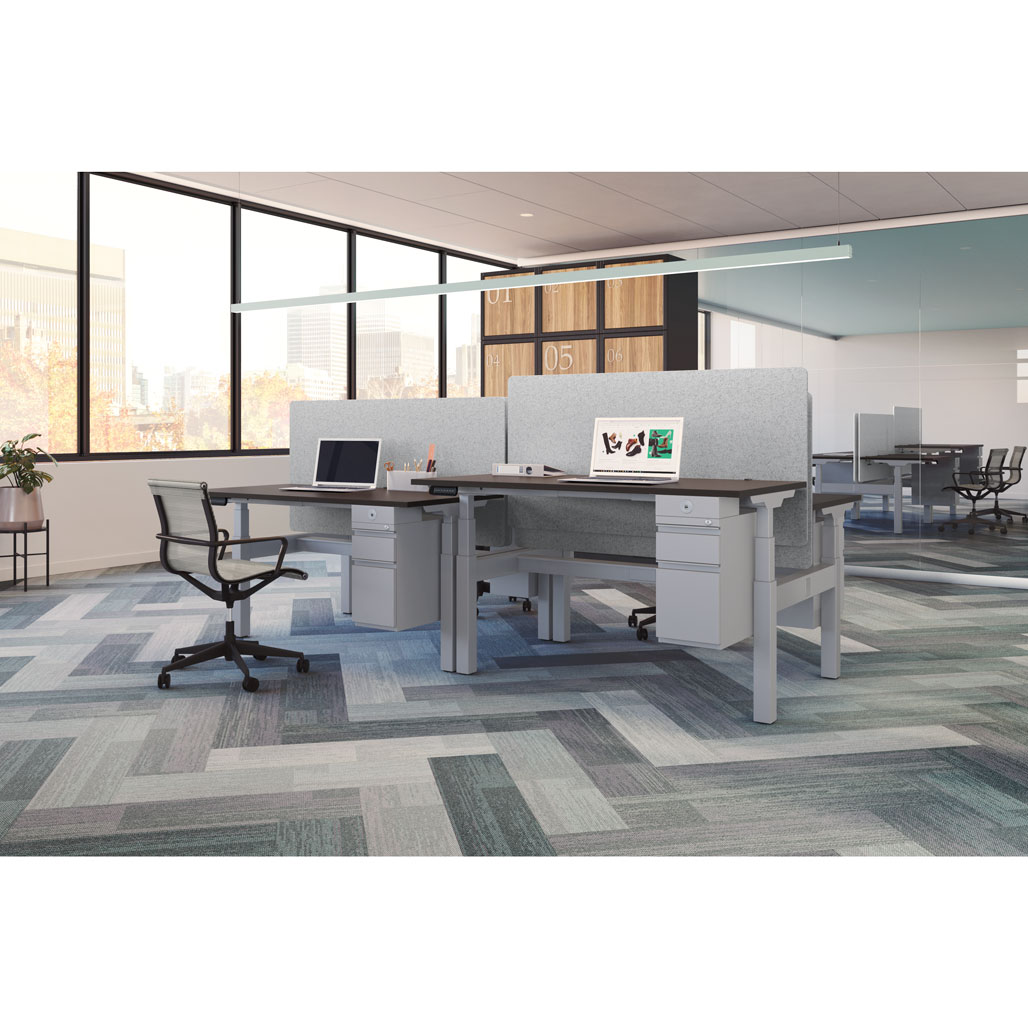 OfficeSource Standup Standing Desk Collection Height Adjustable Typical – OS230