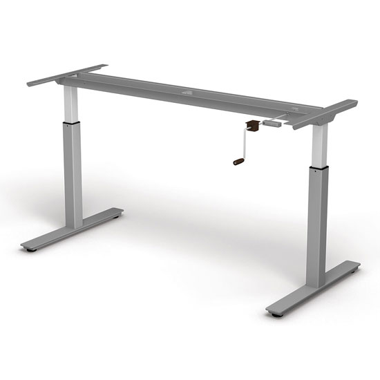 OfficeSource StandUp Standing Desk Collection Crank Lift Base