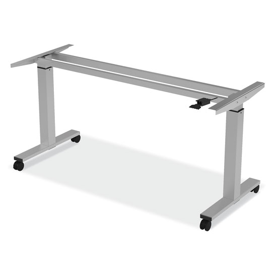 OfficeSource StandUp Standing Desk Collection Pneumatic Height Adjustable Base with Casters