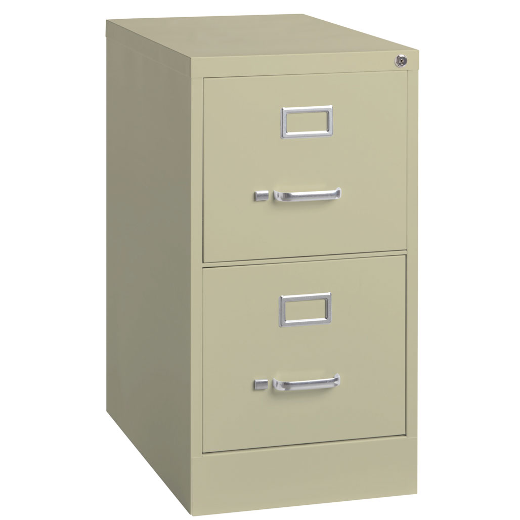 OfficeSource Steel Vertical File Collection 2 Drawer Vertical File Cabinet, 26.5″ Deep, Legal
