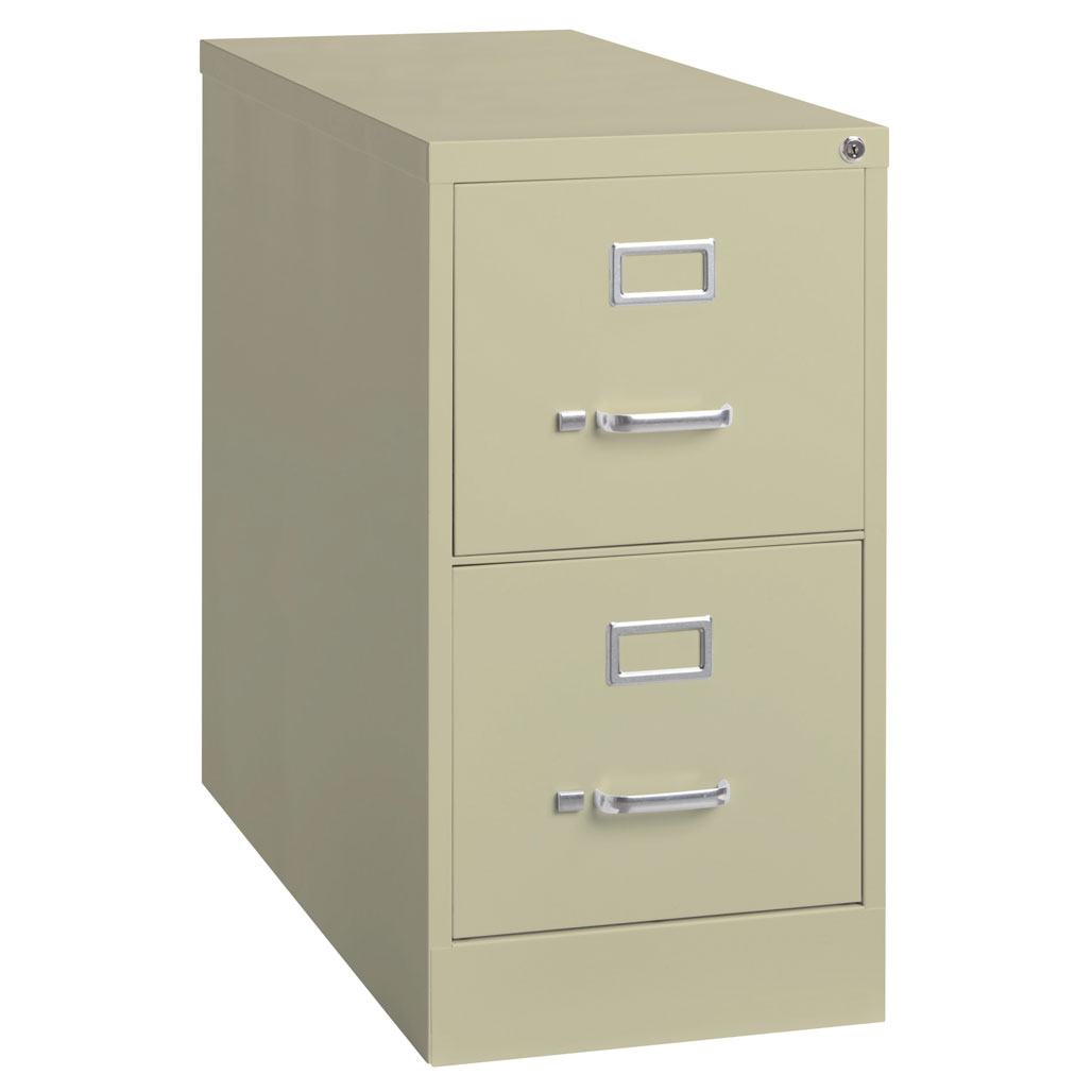 OfficeSource Steel Vertical File Collection 2 Drawer Vertical File Cabinet, 25″ Deep, Letter