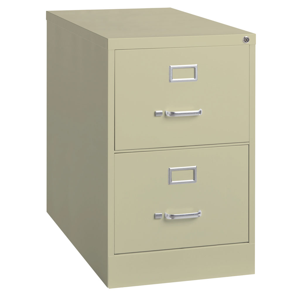 OfficeSource Steel Vertical File Collection 2 Drawer Vertical File Cabinet, 26.5″ Deep, Letter