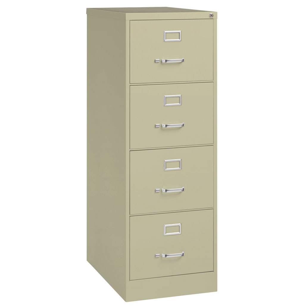 OfficeSource Steel Vertical File Collection 4 Drawer Vertical File Cabinet, 25″ Deep, Legal