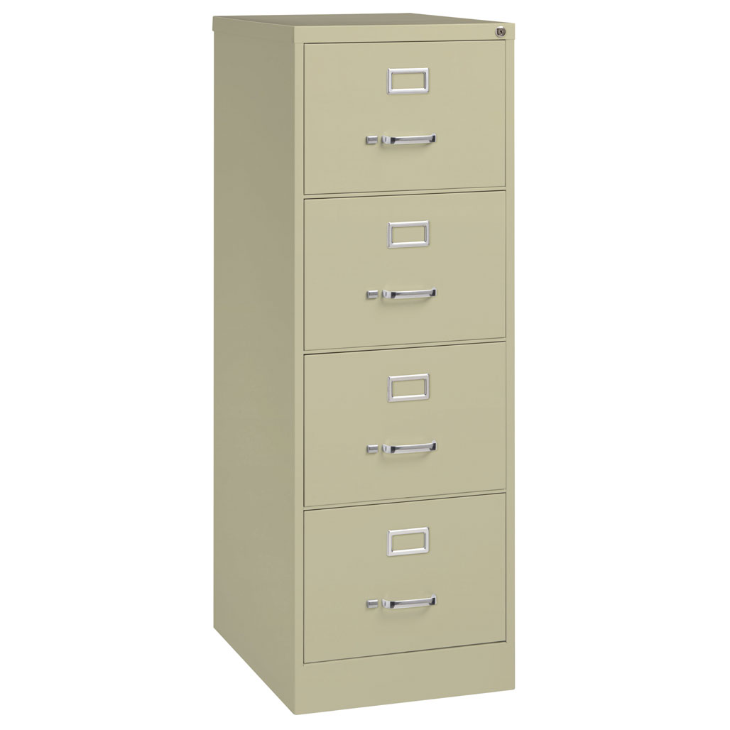 OfficeSource Steel Vertical File Collection 4 Drawer Vertical File Cabinet, 26.5″ Deep, Legal
