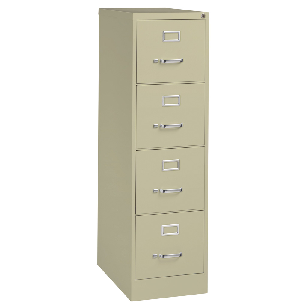 OfficeSource Steel Vertical File Collection 4 Drawer Vertical File Cabinet, 26.5″ Deep, Letter