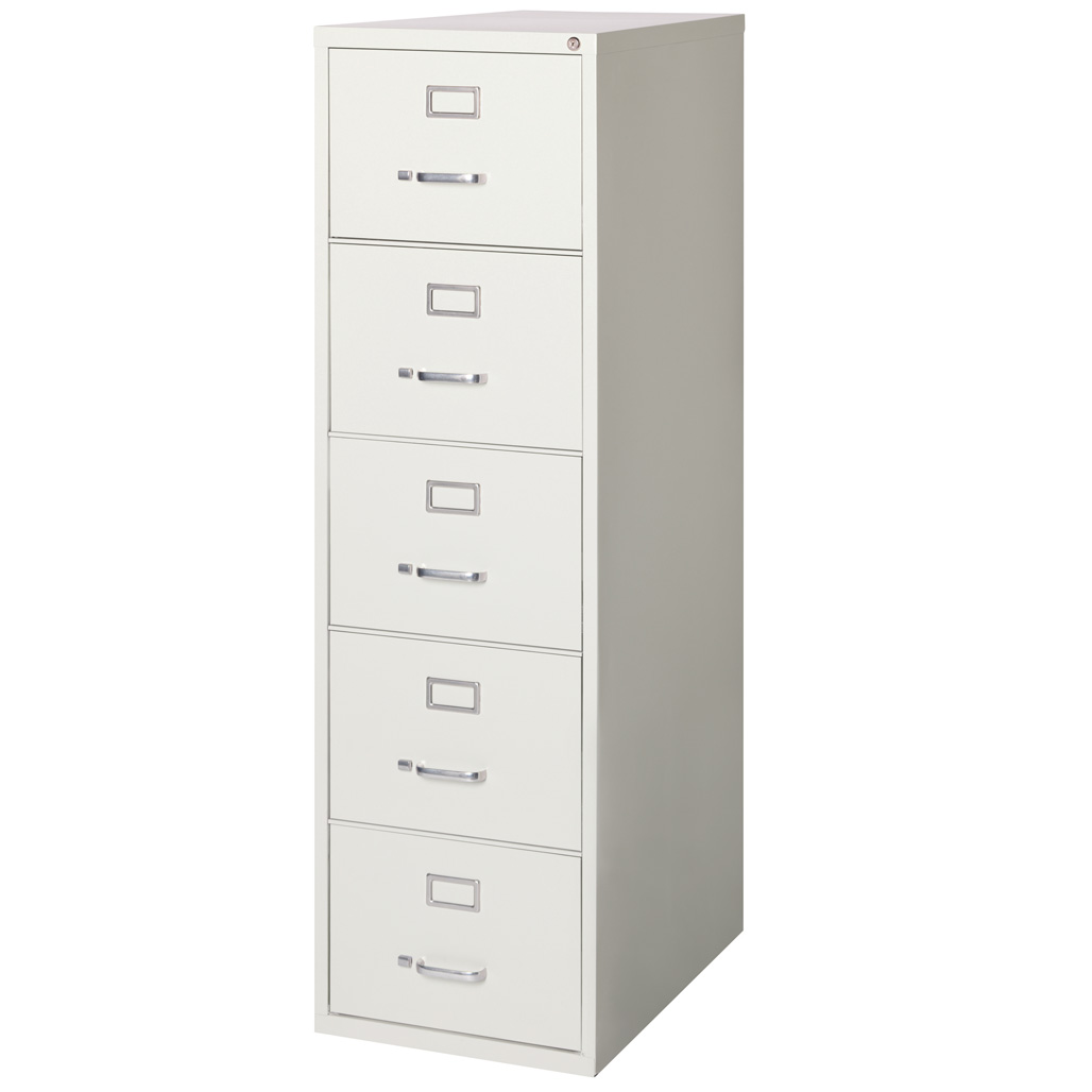 OfficeSource Steel Vertical File Collection 5 Drawer Vertical File Cabinet, 26.5″ Deep, Letter