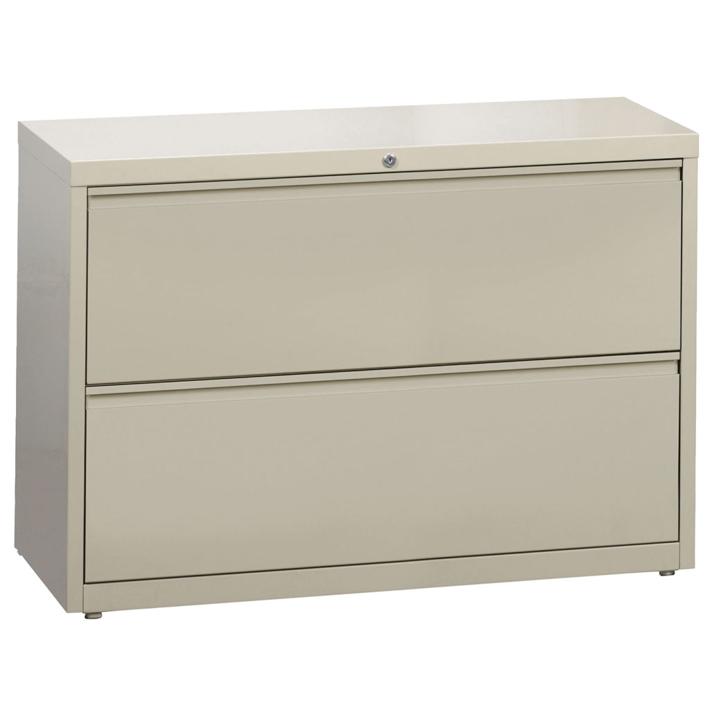 OfficeSource Steel Lateral File Collection 2 Drawer Lateral File Cabinet, 42″ Wide
