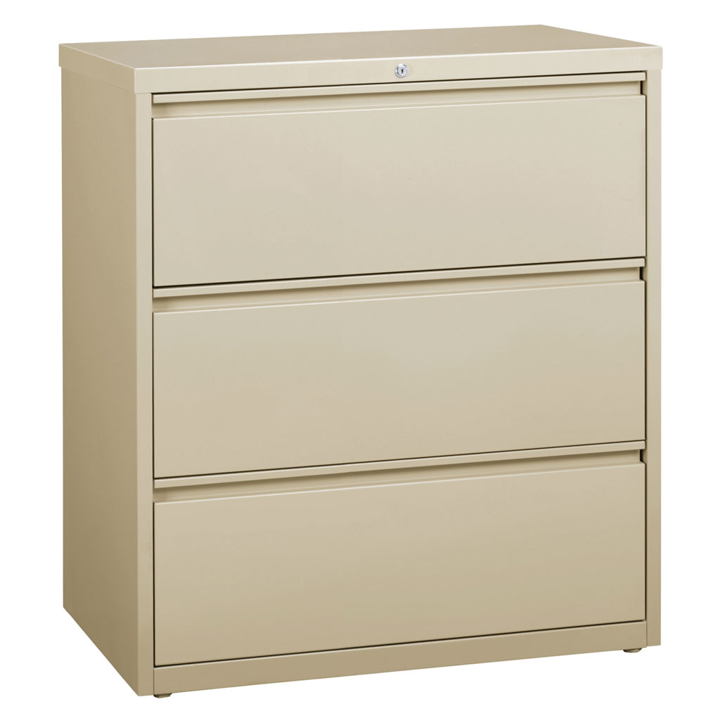 OfficeSource Steel Lateral File Collection 3 Drawer Lateral File Cabinet, 30″ Wide
