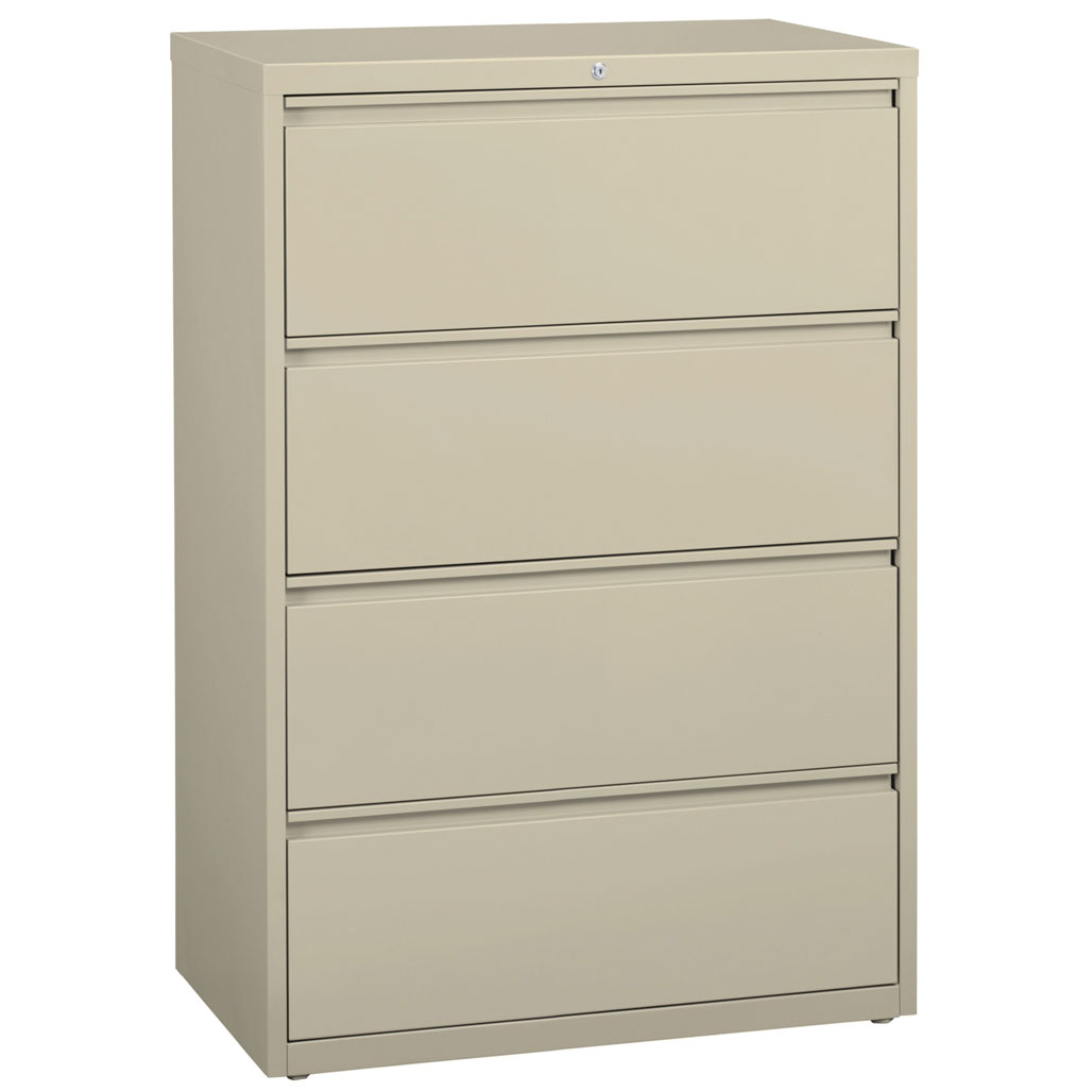 OfficeSource Steel Lateral File Collection 4 Drawer Lateral File Cabinet, 30″ Wide