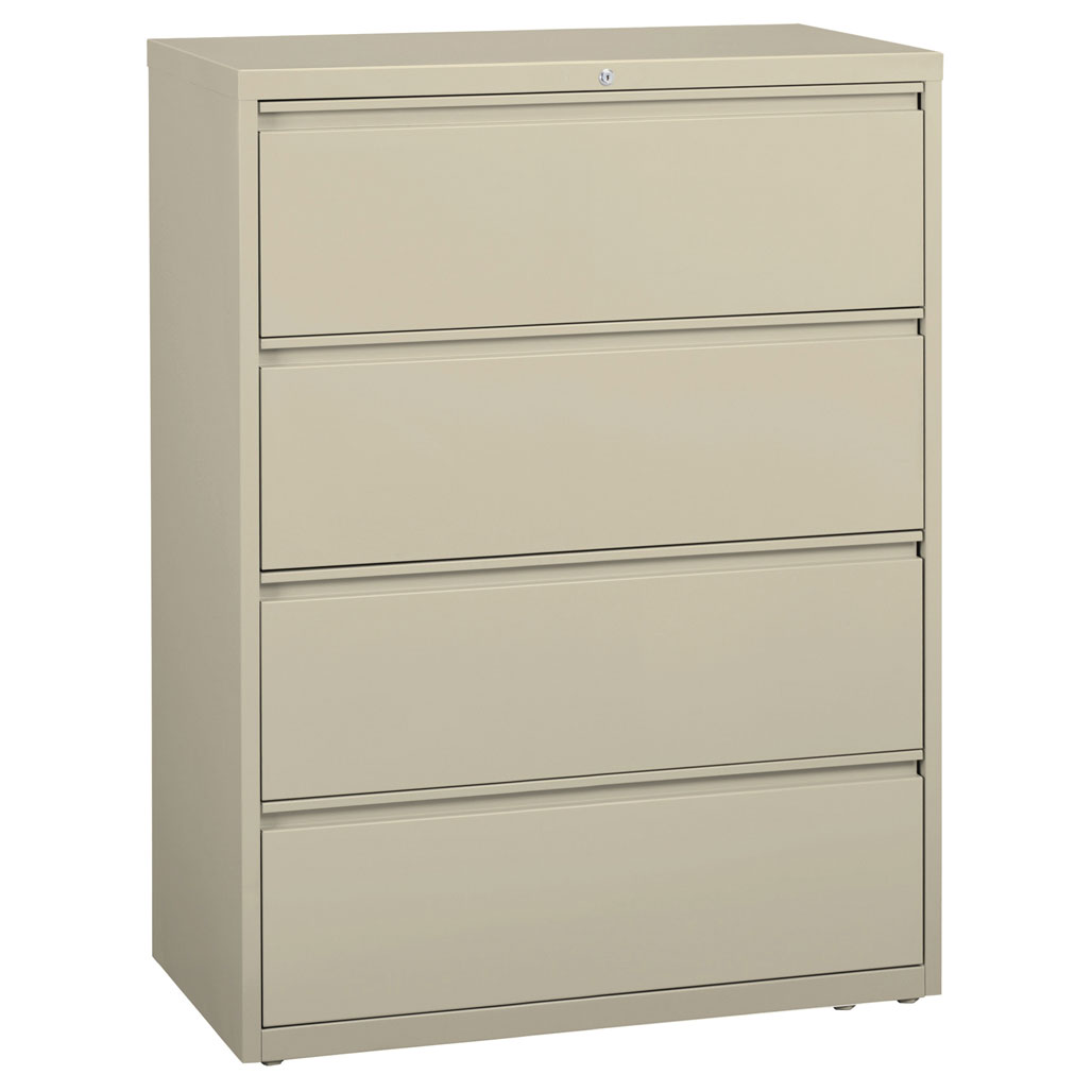 OfficeSource Steel Lateral File Collection 4 Drawer Lateral File Cabinet, 42″ Wide