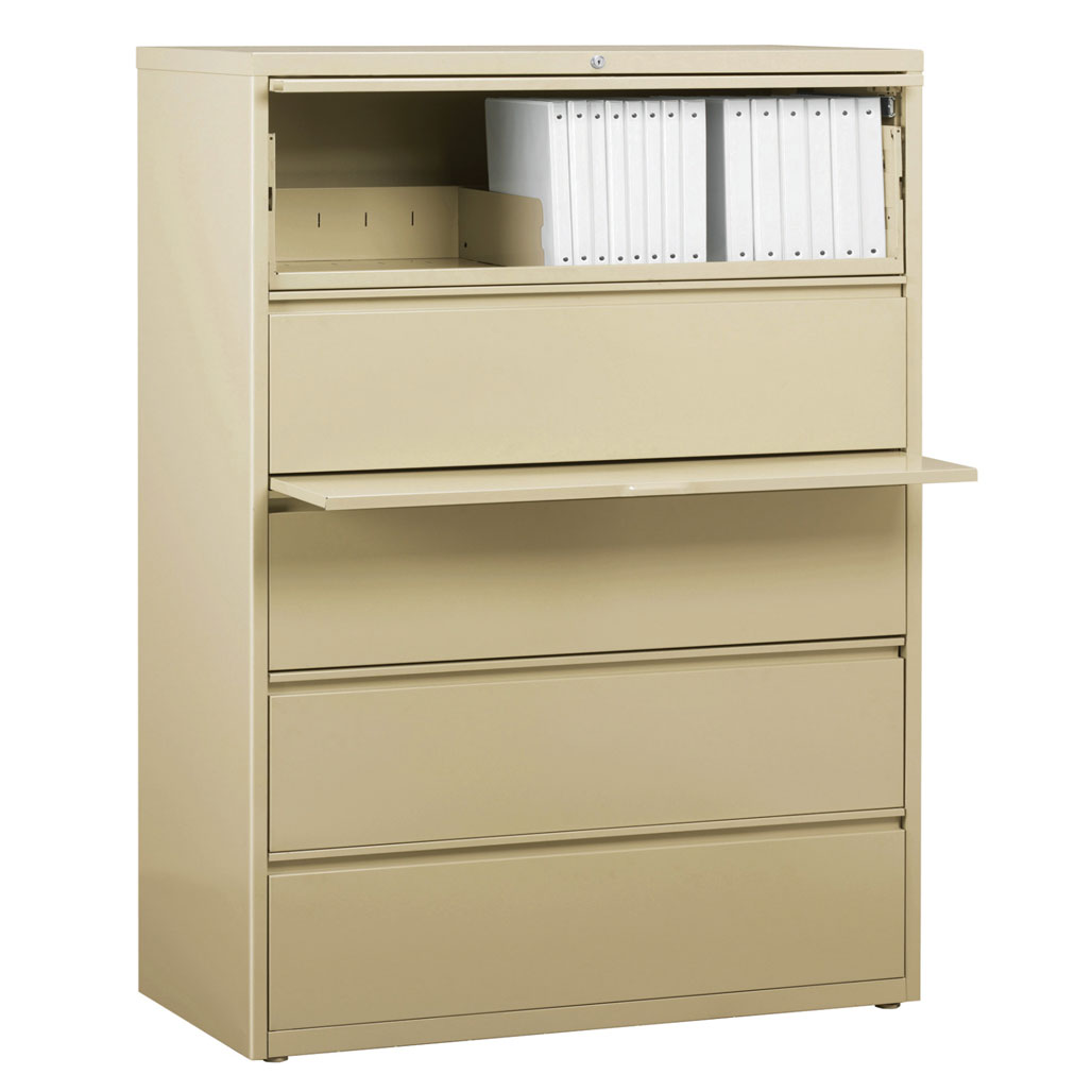 OfficeSource Steel Lateral File Collection 5 Drawer Lateral File Cabinet, 42″ Wide