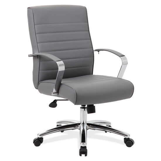 OfficeSource Studio Collection Mid Back Chair with Chrome Frame