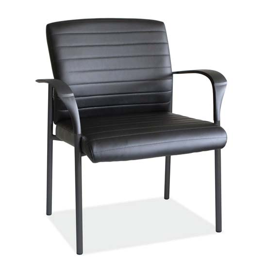 OfficeSource Tate Collection Guest Arm Chair with Black Frame