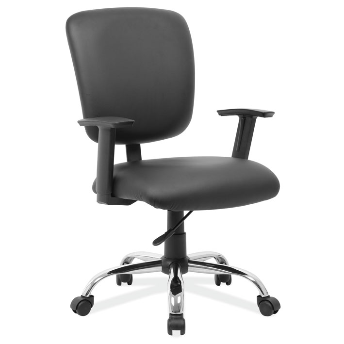 OfficeSource Task Force Collection Mid Back Task Chair with Chrome Base