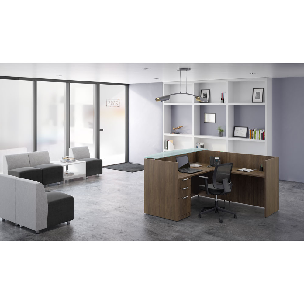 Mesh Back Task Chair with Arms and Black Frame